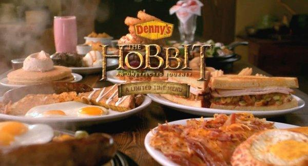 "Denny's ""Hobbit""-inspired menu includes items called Bilbos Berry Smoothies and Radagasts Red Velvet Pancake Puppies."