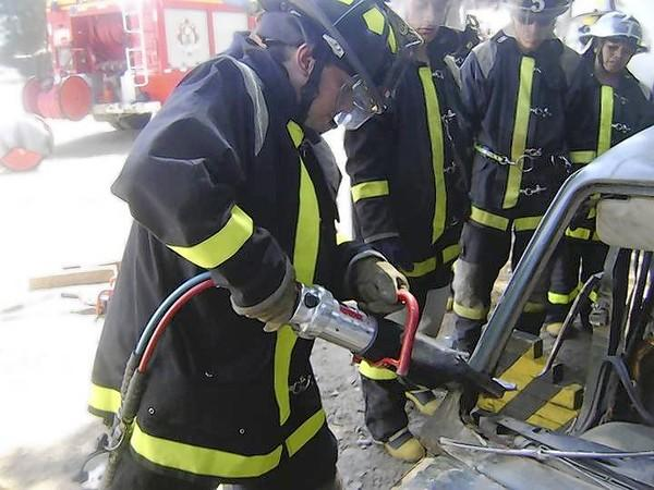 Elgin firefighters train with Chilean firefighters two years ago when they donated equipment shortly after an earthquake.