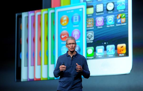 Tim Cook, chief executive officer of Apple Inc., details the features of the new iPad mini as the device is unveiled during an event in San Jose.