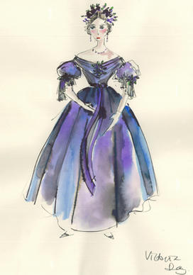 "A look back at costume designer Sandy Powell's sketches from ""The Young Victoria."""