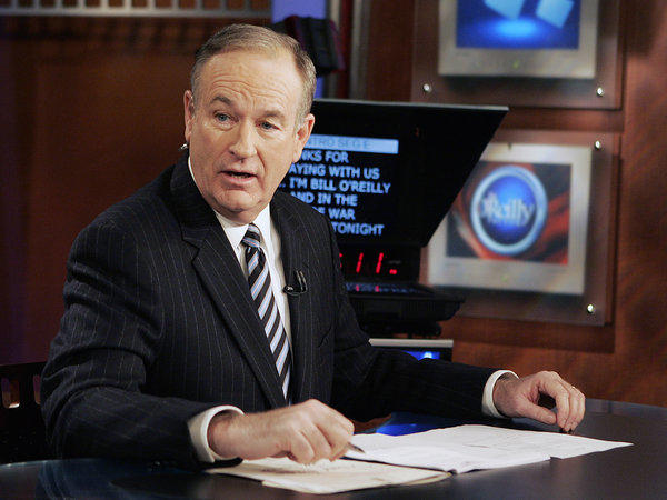 "Bill O'Reilly on his television show, ""The O'Reilly Factor."""