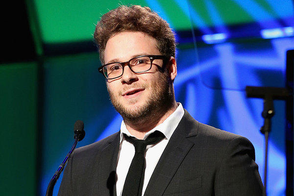 Seth Rogen stole the show at Monday's Hollywood Film Awards gala, presenting producer of the year to Judd Apatow.