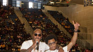 Rapper Flo Rida visits Dillard High School
