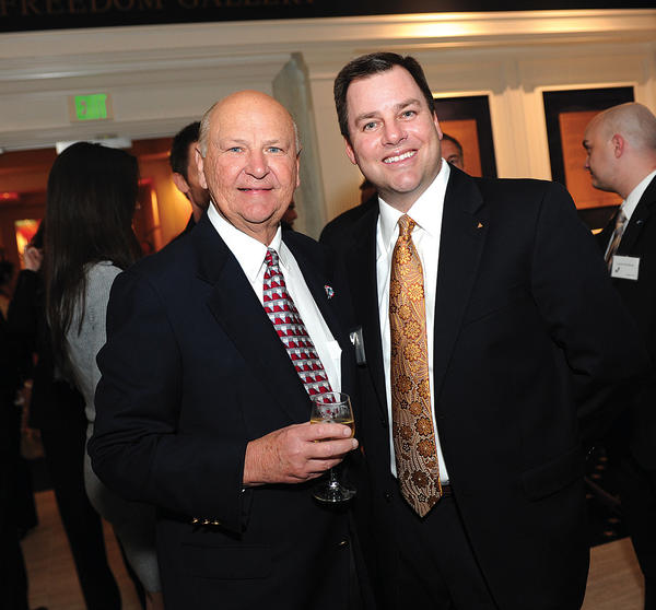 "Wayne Huizenga, left, and Jason Welch at last year's ""South Florida Business Hall of Fame,"" which benefited Junior Achievement  of South Florida. This year's event will take place on Feb. 6 at the JA World Huizenga Center at Broward College."