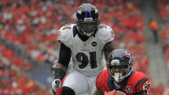 Ravens' Courtney Upshaw's weight is down, is no longer facing fines