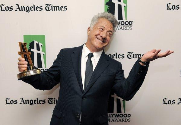 """Quartet"" director Dustin Hoffman was the recipient of the Hollywood breakthrough director award."