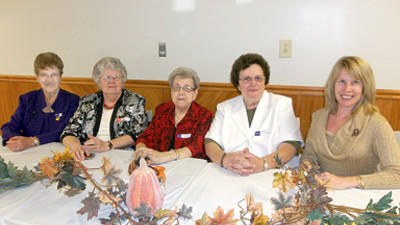 Somerset County Farm Women held its 93rd annual convention on Oct. 17 at the Sipesville Firehall and installed officers. The county officers are from left, Betty McGee, new county president; Mary Jane Kiehl, secretary; Marilyn Ogline, outgoing president; Betty Hearn, vice president; and Jeanne Custer, treasurer.
