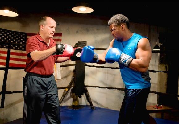 "Guy Van Swearingen (as Tre) and Kamal Angelo Bolden (as Donell) in ""The Opponent."""