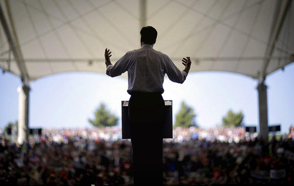 Republican presidential candidate Mitt Romney speaks during a campaign event in Henderson, Nev.