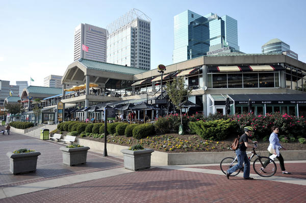 The Pratt Street Pavillion at Harborplace. The waterfront mall has been sold to Ashkenazy Acquisition Corp., a New York real estate investment firm.