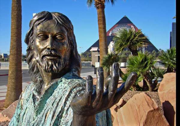 "A statue of Jesus at the Shrine of the Most Holy Redeemer in Las Vegas. The word ""jesus"" ranked No. 21 on the 2012 list of most used passwords, according to password management company SplashData."