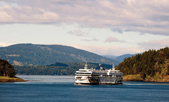 Ferry trip to Vancouver Island, British Columbia, Canada