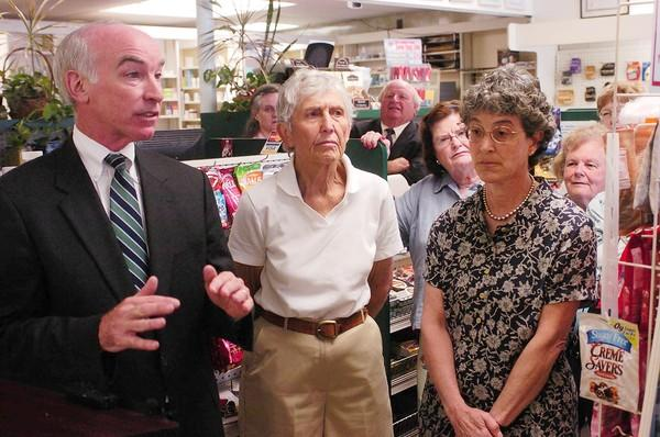 Rep. Joe Courtney (D-Conn.) in 2006 with state Sen. Edith Prague and Judith Stein, right, of the Center for Medicare Advocacy. Courtney and Stein have both worked to provide custodial and other care for patients whose conditions are not expected to improve.