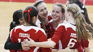 Photo Gallery: Burroughs v. Arcadia Pacific League girls volleyball