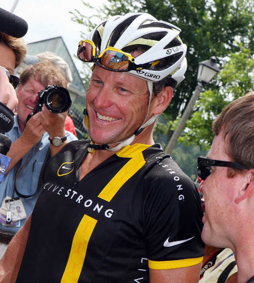 Wear a bike jersey and helmet, and use all those Livestrong bracelets as a tourniquet to pop your veins so you can blood dope as necessary.