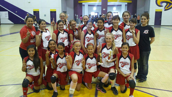 The Frank Wright Middle School of Imperial seventh- and eighth-grade volleyball teams won their respective divisions at the annual Middle School Tournament held Saturday at Southwest High in El Centro.