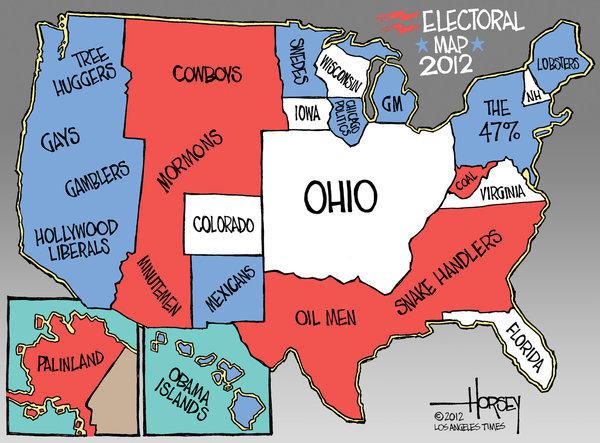 Ohio is the biggest state on the 2012 electoral map