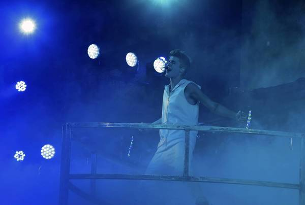 Justin Bieber performs live for his Believe Tour at Allstate Arena on Tuesday.
