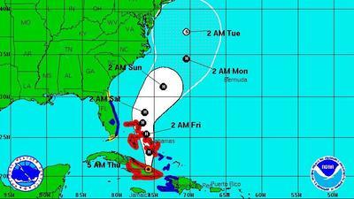 Hurricane Sandy strikes Jamaica; Florida east coast under tropical storm watch