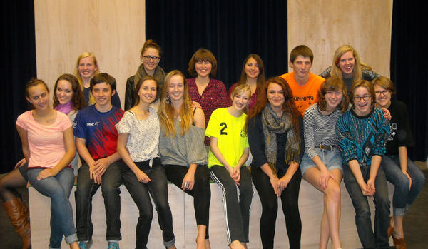 "Members of the Petoskey High School Drama Department cast for ""The Wizard of Oz"" include (front row, from left) Amanda Kline. Faith Spalding, Brandon Hull, Jacalyn Webster, Dana Reynolds, Emma Kendziorski, Amanda Grubbs, Marissa Pattullo, Clem Turner, Anne Tsafloff; (back row) Kendra Shaw, Chandler Cummings, Samantha Young, Makenzi Mier, Quentin Fettig, Maddie Nemecek, and not pictured, Jana Tahtinen."
