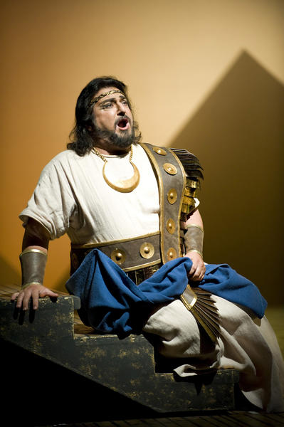 "The Annapolis Opera presents a semi-staged production of Verdi's ""Aida"" with Adrienne Danrich, Michael Wade Lee, members of the Morgan State University Choir and Annapolis Symphony, conducted by Ron Gretz. <br>
