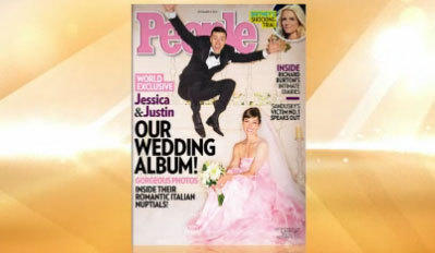'People Magazine' has a first look at Jessica Biel and Justin Timberlake's wedding photos.