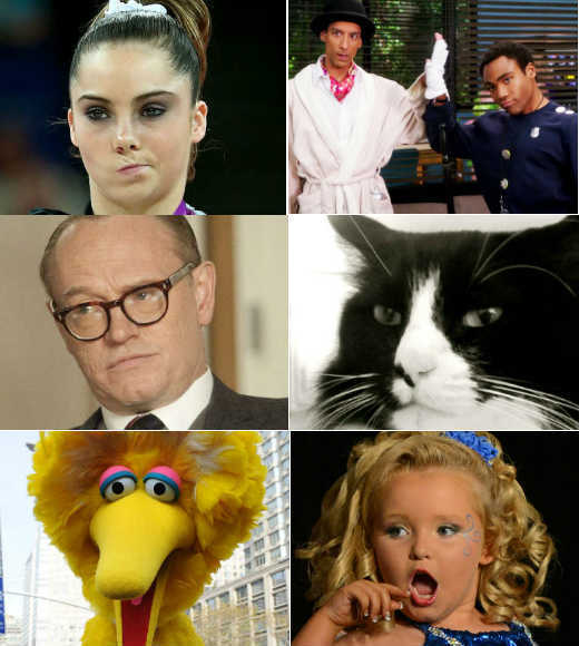Halloween Costumes from pop culture: Honey Boo Boo to Big Bird: Stuck on a Halloween costume? Turn to pop culture for help. From debate memes to unimpressed Olympians, naked Royals to existential cats, youve got plenty of choices.