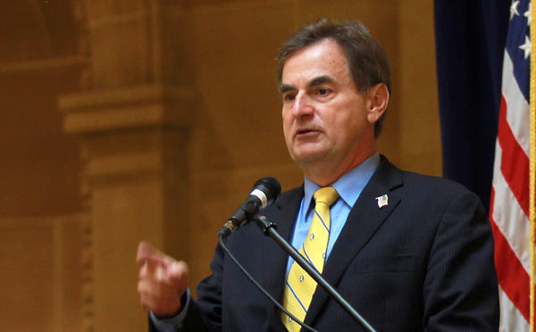 Indiana GOP Senate candidate Richard Mourdock speaks at a campaign event in Indianapolis, Ind.