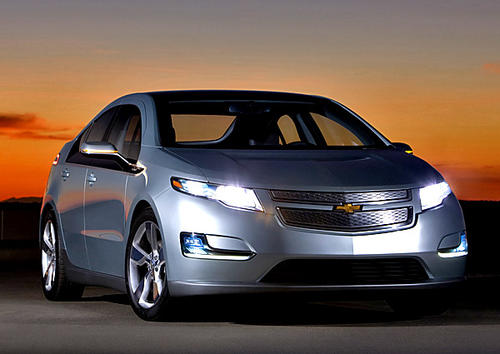 The Chevrolet Volt is a plug-in electric vehicle with extended range that can travel 25 to 50 miles on electric power and another 310 with an on-board, gas-powered generator. The five-door sedan has a top speed of 100 mph. Priced at $41,000, it is eligible for a $7,500 federal tax credit. It also can be leased for $350 per month with $2,500 down.