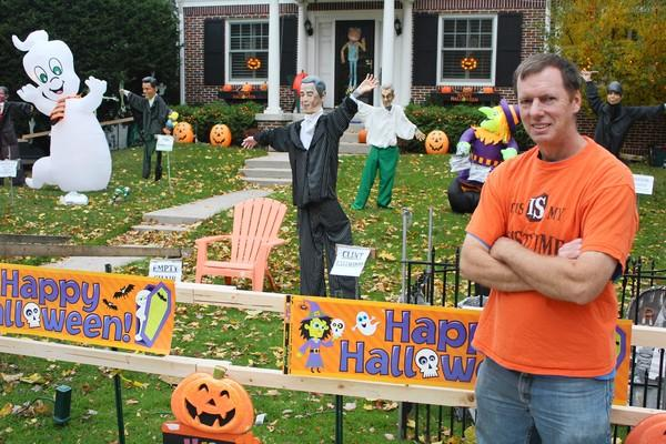 Mark Weyermuller said he always tries to give his Halloween display a current yet ghoulish theme.