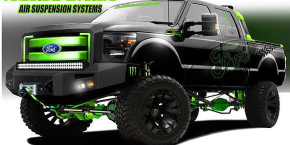 Ford trucks at SEMA