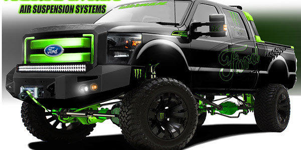 Ford trucks at SEMA