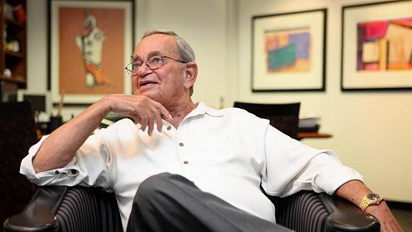 Former CME chairman Leo Melamed in his office in Chicago in 2011.