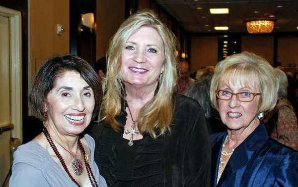 Among the La Providencia Guild officers who enjoyed Sunday's event were, from left, Rosemarie Witten, Deborah Spang and Lynn White-Shelby.
