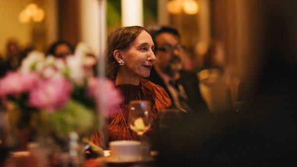 Author Joyce Carol Oates at the PEN Center USA awards dinner.