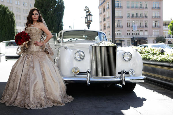 Athena Yvette Portillo in her St. Pucchi wedding gown.