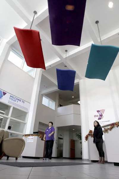 The main lobby has been remodeled at the Crescenta-Canada Family YMCA, at the Foothill Boulevard location.