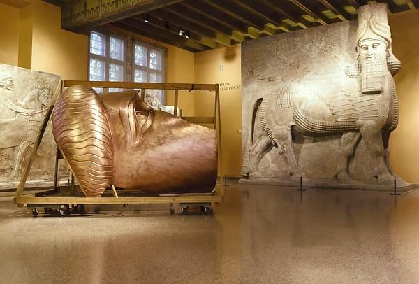 """Danh Vo's """"We the People"""" exhibit at the Oriental Institute."""