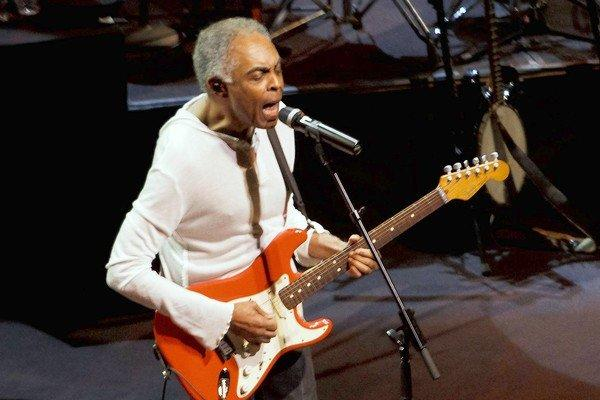 Gilberto Gil performs at the Walt Disney Concert Hall.