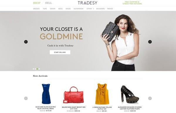 Santa Monica start-up Tradesy launched Wednesday. The site aims to help women buy and sell preowned clothing.