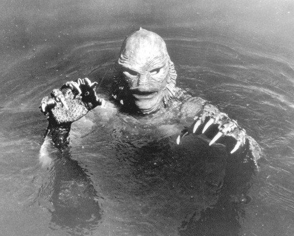 "A scene from ""Creature From the Black Lagoon."""