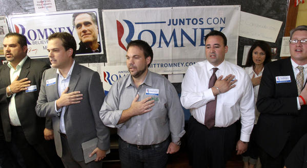 Scenes from Craig Romney, son of Republication presidential nominee Mitt Romney, addresing supporters during a stop at the Orange County, Fla, Republican Victory Office, in Orlando, Wednesday, October 24, 2012