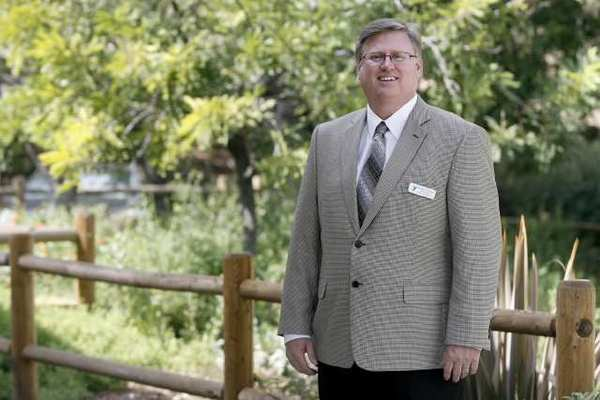 Chaplain Mark Yeager is the new Director of Champlain Services at the Crescenta-Canada Family YMCA, in front of the Foothill Blvd. location.