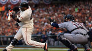 SAN FRANCISCO--Pablo Sandoval was talking Tuesday, one day before the World Series began, about facing Cy Young winner Justin Verlander.