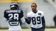 Seahawks coach Pete Carroll said Wednesday that second-year slot receiver Doug Baldwin will miss Sunday's game against the Lions in Detroit because of the high ankle sprain he got in last week's game against the 49ers.