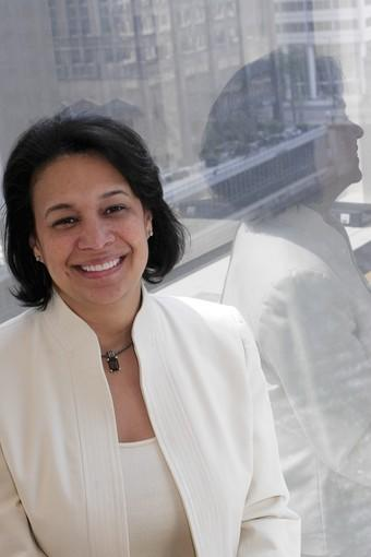 Diana Ferguson, a former CPS CFO, has emerged as a candidate for the Illinois Sports Facilities Authority executive director job, a source of tension between Mayor Rahm Emanuel and Gov. Pat Quinn.
