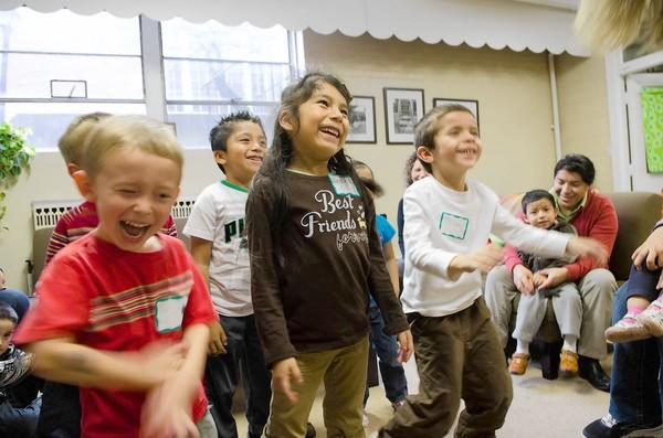 Children participate in the Right From the Start on Tuesday in Highland Park.