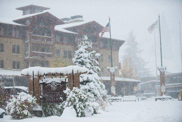 Squaw Valley posted this photo of snow dumped by storms Monday on its Facebook page.
