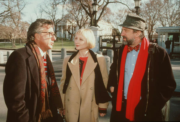 Dustin Hoffman, Anne Heche, and Robert DeNiro starred in this scathing political satire that won Levinson a special Jury Prize at the Berlin International Film Festival.