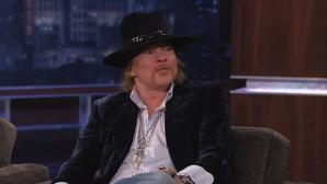 Axl Rose speaks to Jimmy Kimmel in rare live TV interview